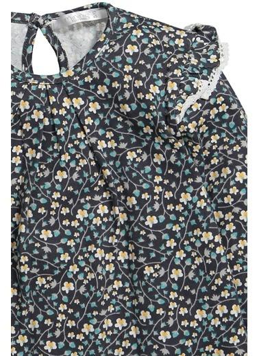 Zeyland Omuz Fırfırlı Desenli Bluz (5-12yaş) Omuz Fırfırlı Desenli Bluz (5-12yaş) Yeşil